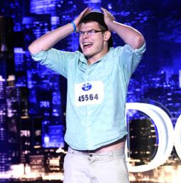 An aspiring 'Idol' during the premiere's Savannah, Ga., auditions.
