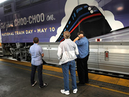 National Train Day launched in 2008 to help raise awareness of rail travel and its part in U.S transportation.