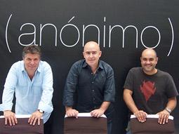 Anonimo execs (from l.) Horacio Navarro, Raul Cardos and Marco Colin.