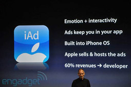 Steve Jobs introduced iAd at its developer's conference in Cupertino today.