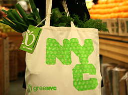 The logo in question graces limited-edition organic cotton bags being sold at Whole Foods.