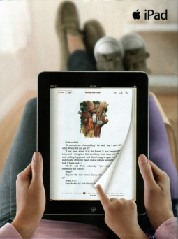 Apple pictured earlier iPads as 'lean back' experiences.