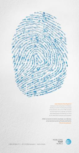 An print ad in AT&T's new campaign.