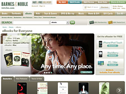 Barnes & Noble's e-books are readable across numerous devices.