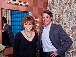 Joy Behar of 'The View' with new spokesman and blogger for K-C's Room-a-Day Giveaway, Thom Filicia.