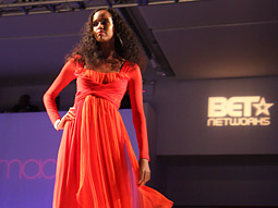 On the runway at the Urbanworld Film Festival's first Film Meets Fashion event.