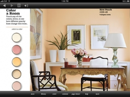 The Color a Room feature in the Better Homes and Gardens app.