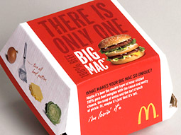 New package design for the Big Mac: There is only one.