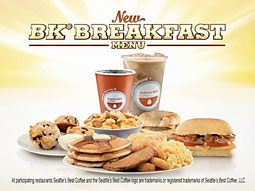 Burger King put upward of 58% of its U.S. measured media budget from September through November into its breakfast and coffee products, according to Kantar Media.