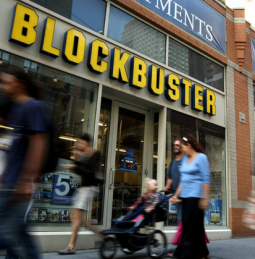 Blockbuster stores will soon sell phones under the banner 'Blockbuster Mobile.'
