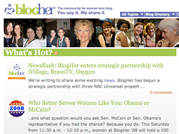 The partnership gives iVillage access to BlogHer's network of 2,200 different blogs helmed by women, as well as promotional opportunities across BlogHer's audience.