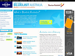 'Bluelist Australia' is a gold mine of home-grown travel recommendations from Outback experiences to best beaches, compiled by Lonely Planet staff, authors and travelers.