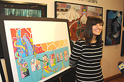 After School Matters participant Layla Ehsan won a recent competition to have her design adorn the Bank of America Mural Wall along Chicago's Kennedy Expressway.