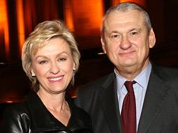 Tina Brown and Jack Kliger