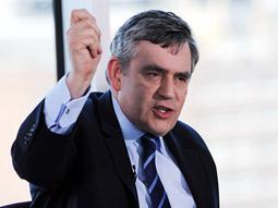 British Prime Minster Gordon Brown