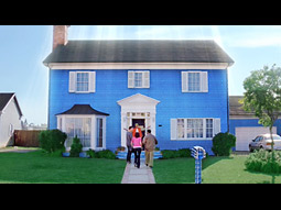 One of the A-B ads features an entire house made of Bud Light cans.