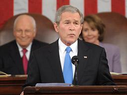 According to the ratings, President Bush's speech fell flat.