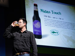 Sam Calagione, founder and president of cult microbrewery Dogfish Head, at the fourth-annual Advertising Age/Creativity Idea Conference.