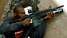 Kobe Bryant in an ad for an for an installment in the 'Call of Duty' series