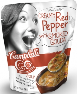 Campbell is introducing new products, such as 'Go' soup in pouches, to revive the category.