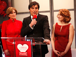 (From left) Denise Morrison, Campbell's, president-North American soups, sauces and beverages; Vincent Irizarry, All My Children cast member; and Lisa Walker, Campbell's VP-soup innovation.