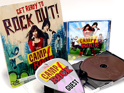 The swag included a ribbon-wrapped package of two copies of the 'Camp Rock' soundtrack -- one was the actual CD, the other made of chocolate. | Photo: Hoag Levins