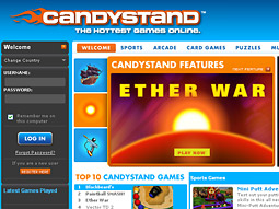 Candystand.com's success is largely predicated on word-of-mouth advertising, combined with visitors who spend nearly 13 minutes per visit with the site's suite of 100-plus Flash and Shockwave games, according to Funtank.