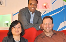(From left) Aegis Media's K.F. Lee, CEO, Greater China; D. Sriram, chief operating officer, China; and Seth Grossman, Carat's managing director, China.
