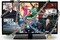 An image from a CBS ad attacking Time Warner Cable