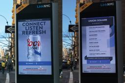 Coors Light LinkNYC ad