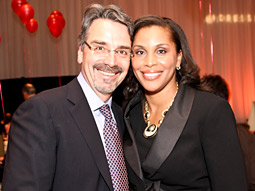 Doug Checkeris, CEO of MediaCom North America, joins Joi Gordon, CEO of Dress for Success Worldwide, at the recent 'Something to Share' Worldwide Gala.