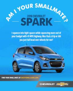 A new outdoor ad for the Chevy Spark.