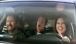Characters from NBC's 'Chuck' in a Honda ad.