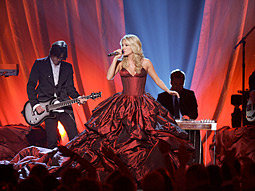 Carrie Underwood performs at the 44th-annual Academy of Country Music Awards on CBS.