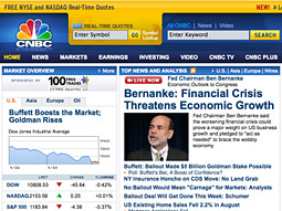 Many media companies, including CNBC, saw huge ratings and online-traffic spikes following the news of Lehman Brothers' bankruptcy and Bank of America's purchase of AIG on Sept. 14.