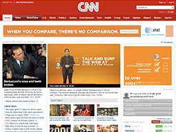 CNN was among the sites running AT&T's campaign.