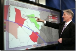 Perceptive Pixel captured the 2008 presidential elections via multi-touch big screen data visualizations.