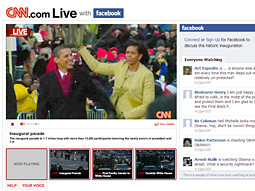 The early winners in the battle for inauguration-media-coverage supremacy were CNN and Facebook.