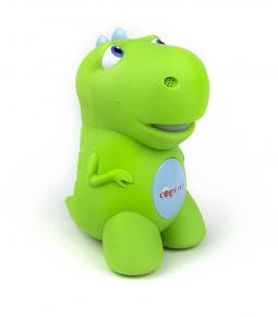A CogniToys Dino, a smart toy that talks with kids.