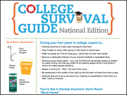 Clorox promotes its own disinfecting wipes in its 'College Survival Guide.'
