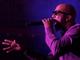 Common performing at a 'secret' show on New York's Lower East Side.