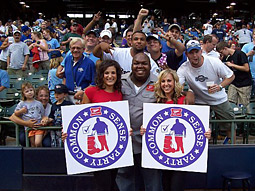 Campaign stops are set for Major League Baseball and college football games.