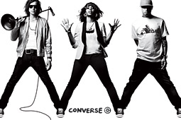 Converse will turn 'The Drive Thru,' a new song featuring the Strokes' Julian Casablancas, Pharrell Williams and white-hot indie songstress Santogold, into a TV campaign, with all three artists in clips from the song's just-filmed music video.