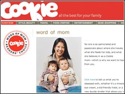 The new 'Word of Mom' program allows the Cookie brand to engage with busy moms.