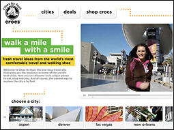 Entertainment and marketing agency Red Robot devised the new travel-guide website for footwear maker Crocs.