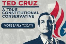 A banner ad for Ted Cruz.