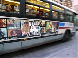 The problems in Chicago began last year when an advertising blitz on CTA buses for 'Grand Theft Auto IV,' known as a particularly violent video game, prompted local media criticism.