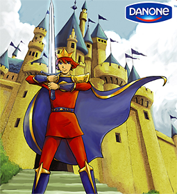 Danone's Prince: Young viewers can submit drawings demonstrating how he outwits his enemy.