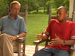David Wilson's journey to explore his African-American heritage led him to North Carolina, where he met an older white man (left) also named David Wilson, whose relatives had once enslaved the younger Mr. Wilson's relatives.