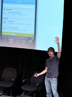 The wide world of mobile: Foursquare CEO Dennis Crowley.